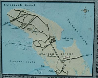 Battle of Roanoke Island Map image. Click for full size.