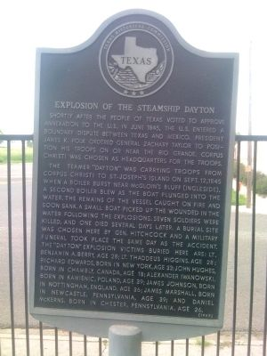 Explosion of the Steamship Dayton Marker image. Click for full size.