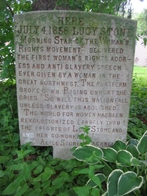Lucy Stone Marker image. Click for full size.