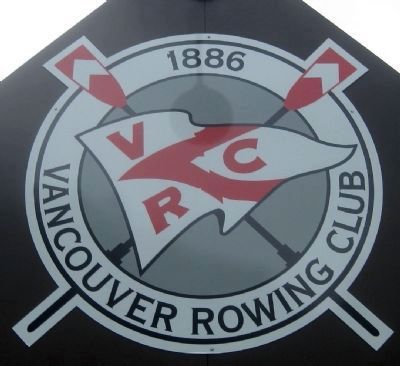 Vancouver Rowing Club Seal - on the clubhouse above the entrance. image. Click for full size.