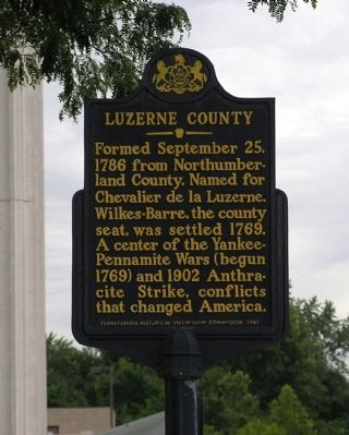 Luzerne County Marker image. Click for full size.