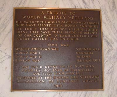 Tribute to Women Military Veterans Marker image. Click for full size.