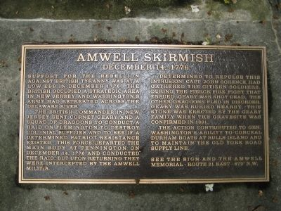 Amwell Skirmish Marker image. Click for full size.
