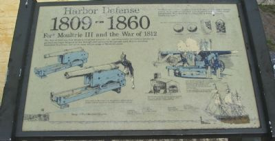 Harbor Defense 1809-1860 Marker image. Click for full size.