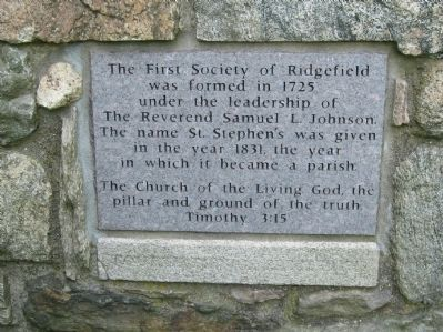 The First Society of Ridgefield Marker image. Click for full size.