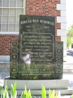 Marker Number 4 - Korean War Memorial - Front image. Click for full size.