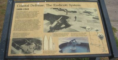 Coastal Defense: The Endicott System Marker image. Click for full size.