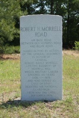 Robert H. Morrell Road Marker image. Click for full size.