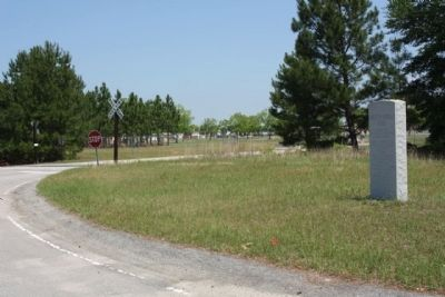 Robert H. Morrell Road Marker near the Air Base Access Road to back gate image. Click for full size.