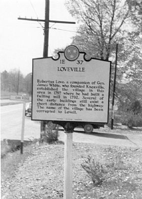 Loveville Marker image. Click for full size.