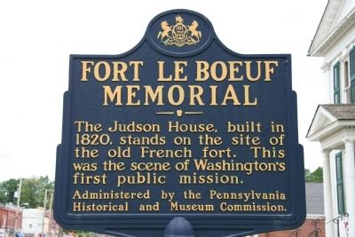 Fort Le Boeuf Memorial Marker image. Click for full size.