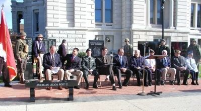 Dedication of Clinton County War Memorial image. Click for full size.