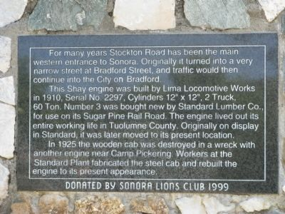 Stockton Road and the Shay Engine Marker image. Click for full size.