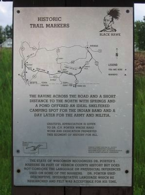 Historic Trail Markers Sign image. Click for full size.