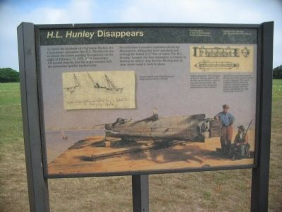H.L. Hunley Disappears Side image. Click for full size.
