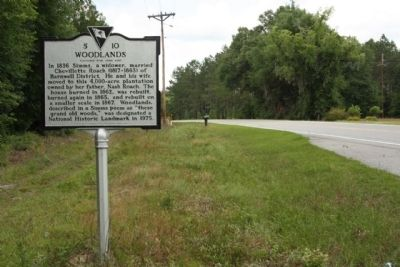 Woodlands Marker, looking west image. Click for full size.