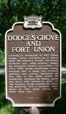 Dodge's Grove and Fort Union Marker image. Click for full size.