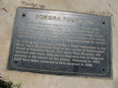Sonora Fountain Marker image. Click for full size.