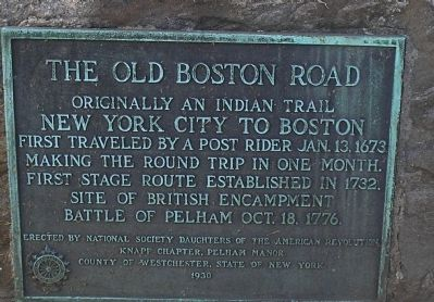 The Old Boston Road Marker image. Click for full size.