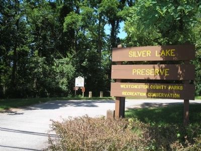Marker in Silver Lake Preserve county park image. Click for full size.