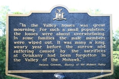 In the Valley homes was great mourning Marker image. Click for full size.