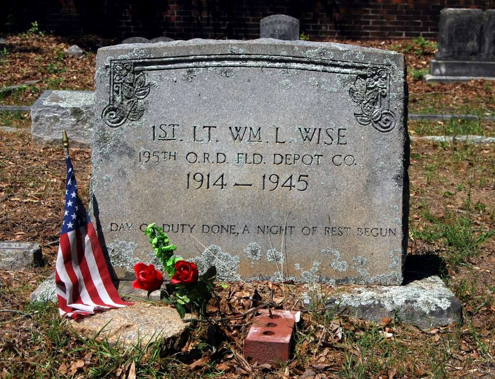 1st Lt. William L. Wise Tombstone
