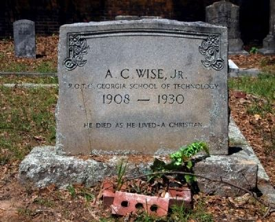 A.C. Wise, Jr. Tombstone image. Click for full size.