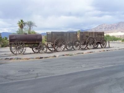 Furnace Creek Ranch, 20 Mule Team Wagon Array image. Click for full size.