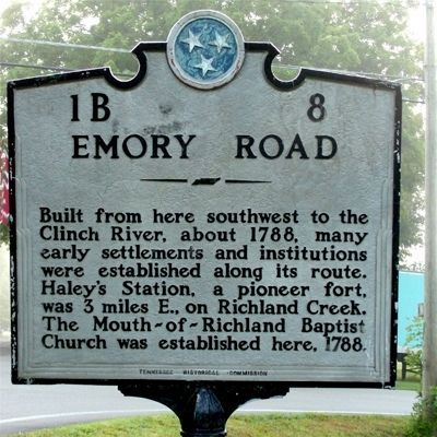 Emory Road Marker image. Click for full size.