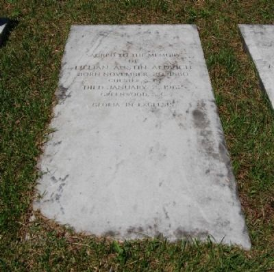 Lillian Austin Aldrich Tombstone image. Click for full size.
