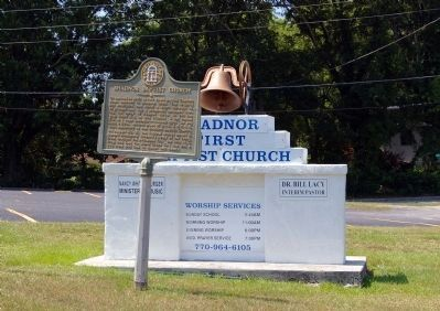 Shadnor Baptist Church Marker image. Click for full size.