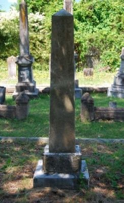 James Bailey Tombstone image. Click for full size.
