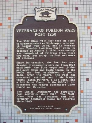 Veterans of Foreign Wars Post 1230 Marker image. Click for full size.