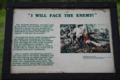 I Will Face The Enemy Marker image. Click for full size.