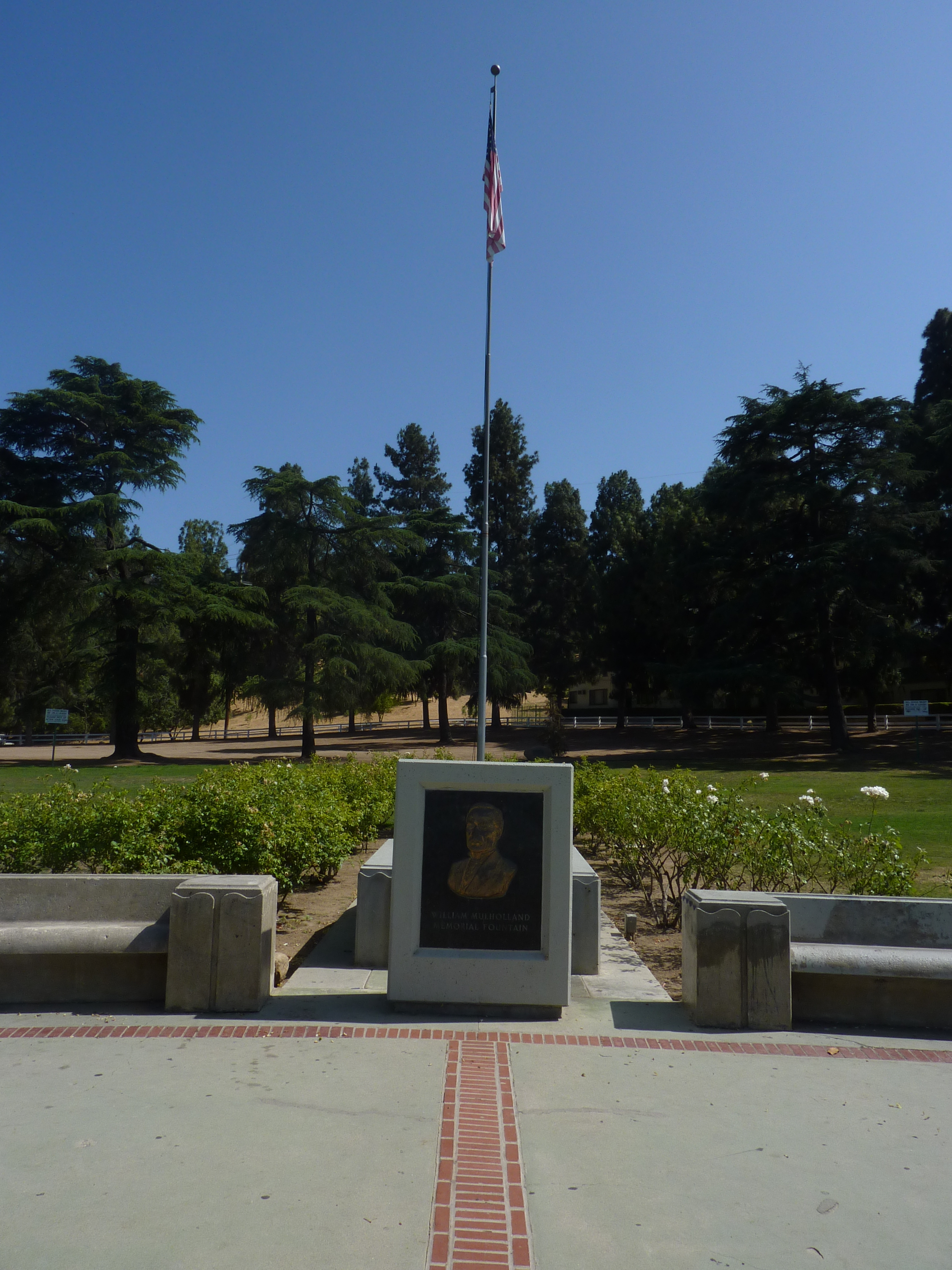 William Mulholland Relief and Flagpole