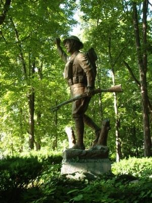 Profile View - - Doughboy Statue image. Click for full size.