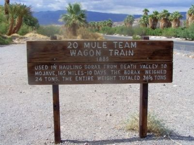20 Mule Team Wagon Train Marker image. Click for full size.