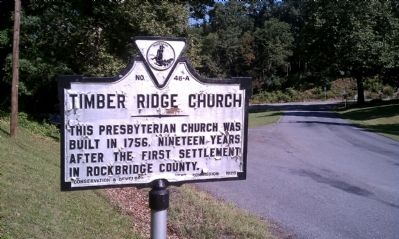 Timber Ridge Church Marker image. Click for full size.