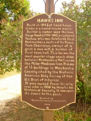 Hawks Inn Marker image. Click for full size.