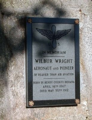 Wilbur Wright Aeronaut and Pioneer Marker image. Click for full size.