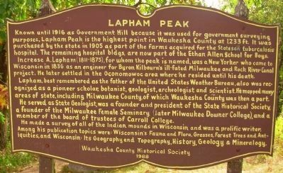Lapham Peak Marker image. Click for full size.