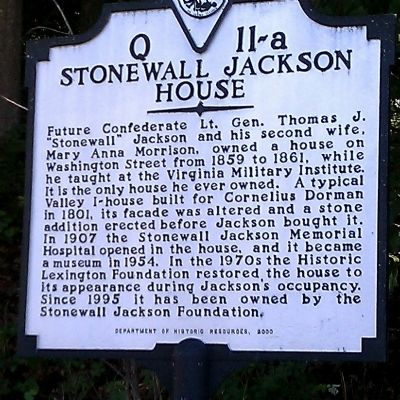 Stonewall Jackson House Marker image. Click for full size.