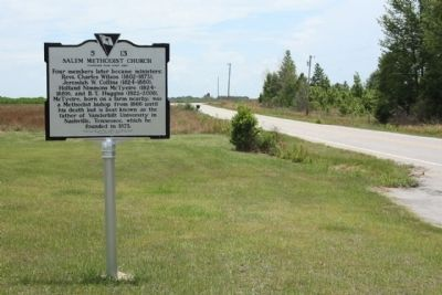 Salem Methodist Church Marker, looking east image. Click for full size.
