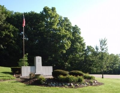 Wide View - - Henry County (Indiana) War Memorial Marker image. Click for full size.