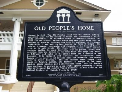 Old People's Home Marker image. Click for full size.