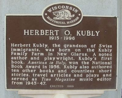 Herbert O. Kubly Marker image. Click for full size.