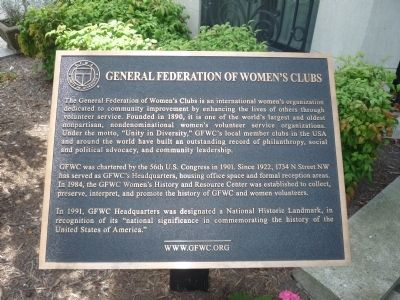General Federation of Women's Clubs Marker image. Click for full size.