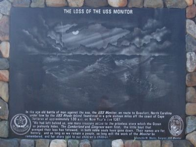 Loss of the USS Monitor Marker image. Click for full size.