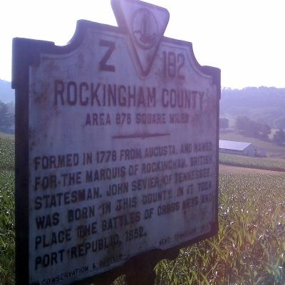 Rockingham County Marker (obverse) image. Click for full size.
