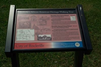 Rockville's First Colored Schools Marker image. Click for full size.